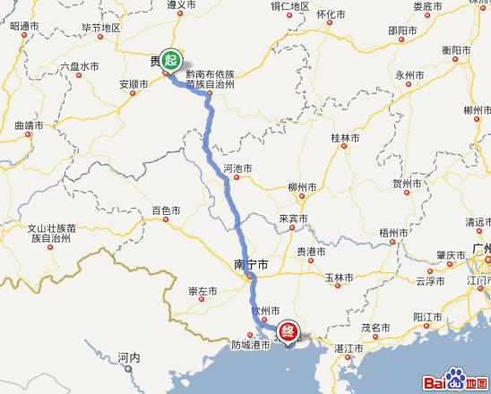 贵州到北海旅游,北海城市风景、涠洲岛二日游(自驾游路线) 贵州到北海自驾游路线(附地图) 1.贵州省内驾车方案 1) 从起点向东南方向出发,行驶10米,直行进入中华北路 2) 沿中华北路行驶1.5公里,过右侧的国艺大厦约120米后,直行进入中华中路 3) 沿中华中路行驶720米,在狮子桥左转 4) 行驶20米,直行进入中山东路 5) 沿中山东路行驶1.