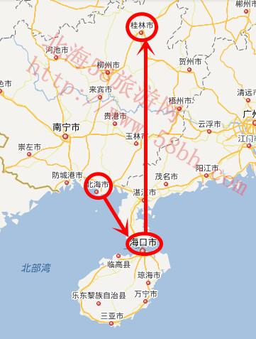 桂林两江四湖地图