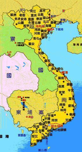 越南地图 越南旅游地图 越南全境手绘地图