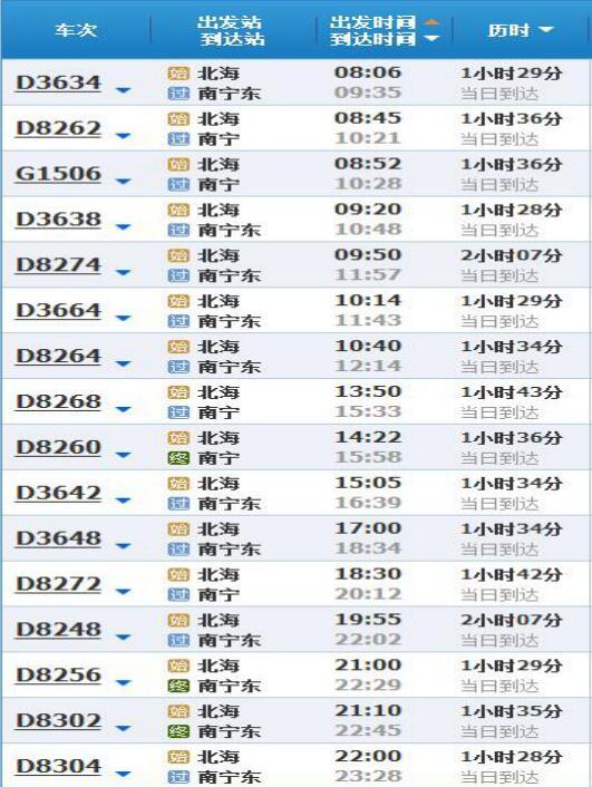 北海火车站在哪里 售票电话是多少图片